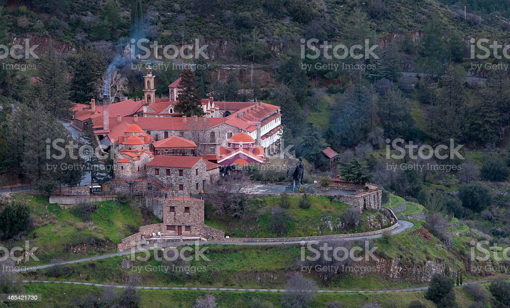 Famous orthodox monastery of Machairas in Cyprus stock photo