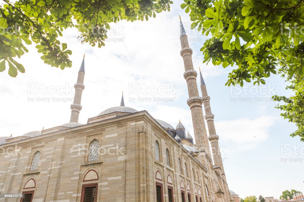 Famous Ottoman Historical Selimiye Mosque Built By Architect Sinan