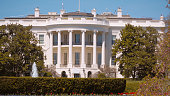 Famous Oval Office at The White House in Washington DC