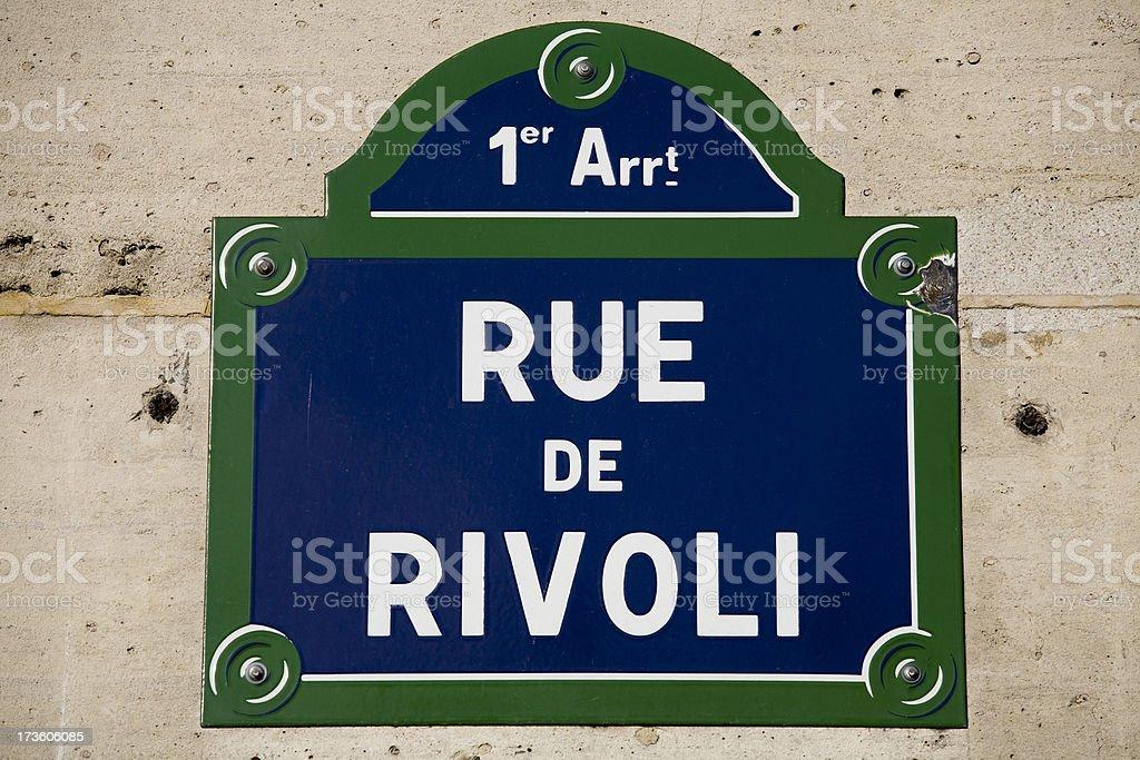 Famous Paris Streets stock photo