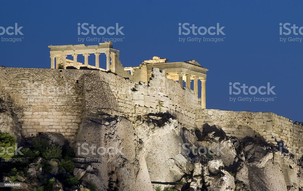 Famous Parthenon at Acropolis hill in Athens royalty-free stock photo