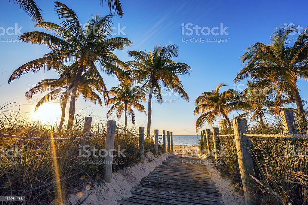 Famous passage to the beach stock photo