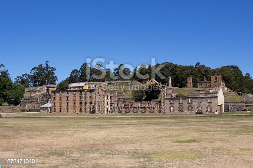 No chance of escape from this penal colony when it was in use .Considered harsh prison.buildings in ruins is what is left. Penitentiary confinement and harsh punishment  UNESCO World Heritage Site Port Arthur Australia
