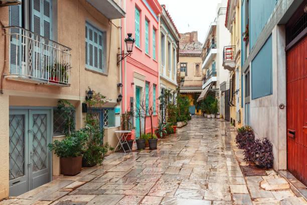 Berühmten Placa District in Athen, Griechenland – Foto