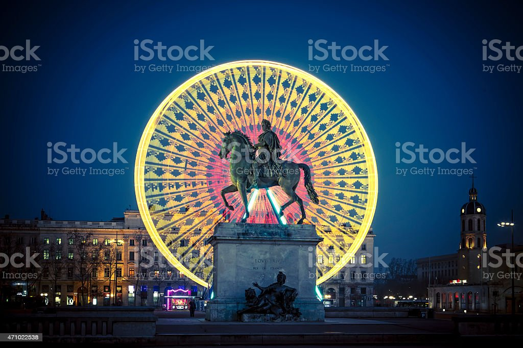 Famous Place Bellecour stock photo