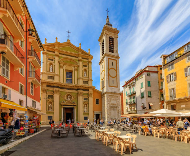 Famous Place Rossetti in Nice France stock photo