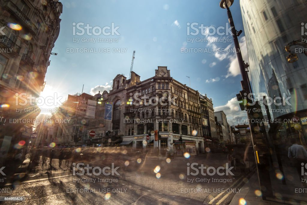 Famous places around London - Leicester square stock photo