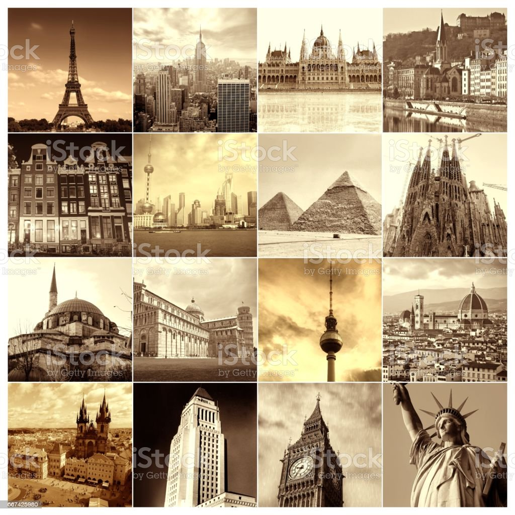 Famous places around the World stock photo