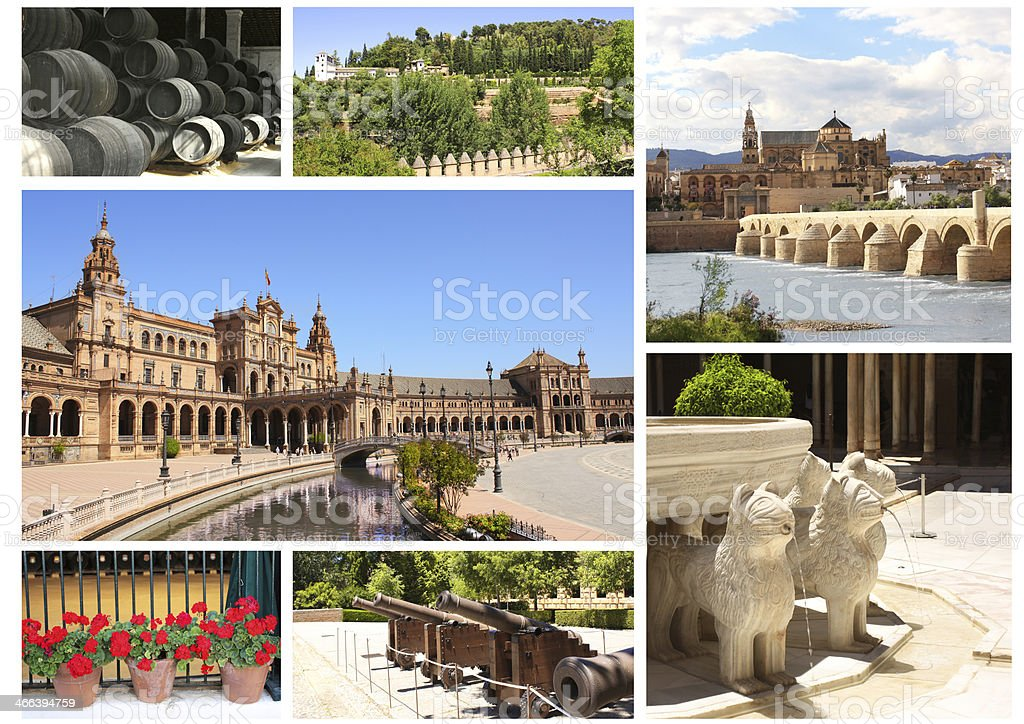 Famous places of Spain royalty-free stock photo