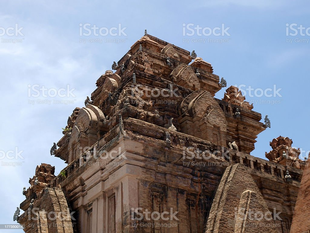 Famous Po Nagar Cham tower in Nha Trang stock photo
