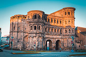 istock Famous Porta Nigra in Trier at sunrise, Rheinland-Pfalz, Germany 1090581738
