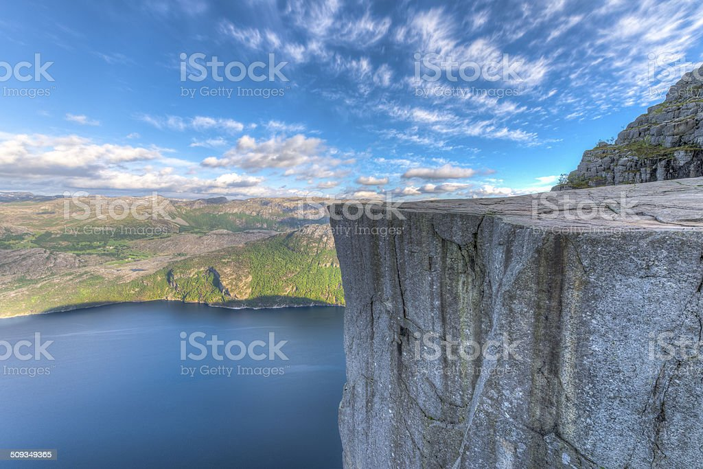 Famous Pulpit Rock in Norway stock photo
