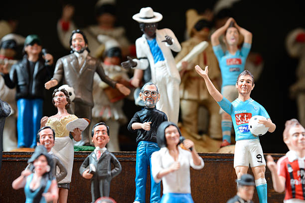 famous puppets by naples - pope francis stok fotoğraflar ve resimler