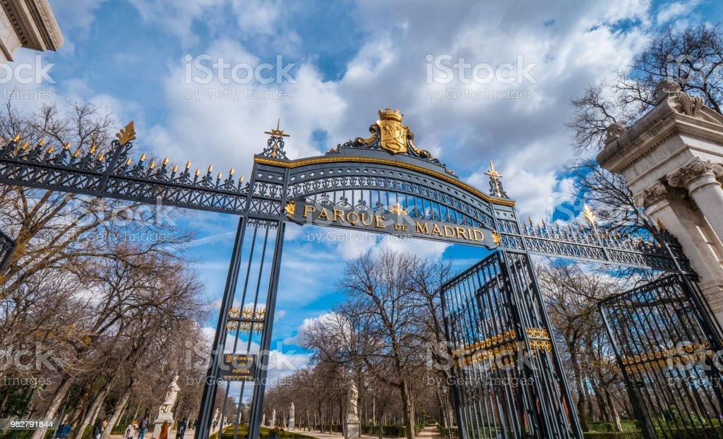 Famous recreation park in Madrid - The Retiro Park