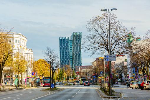 famous Reeperbahn in Hamburg, Germany