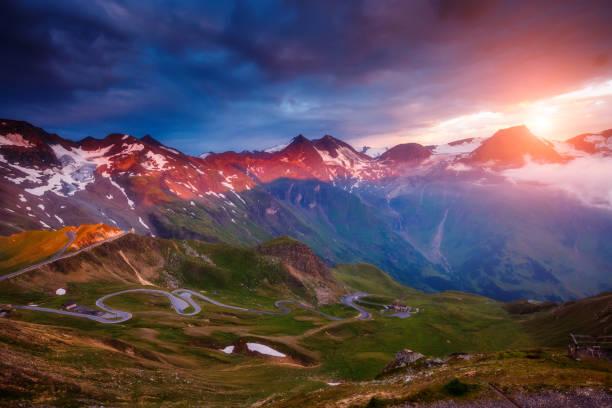 Famous resort Grossglockner High Alpine Road, Austria. Europe.