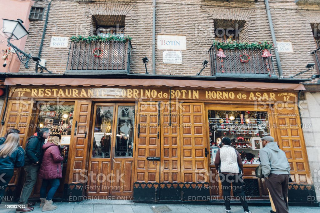 famous restaurant in Madrid stock photo