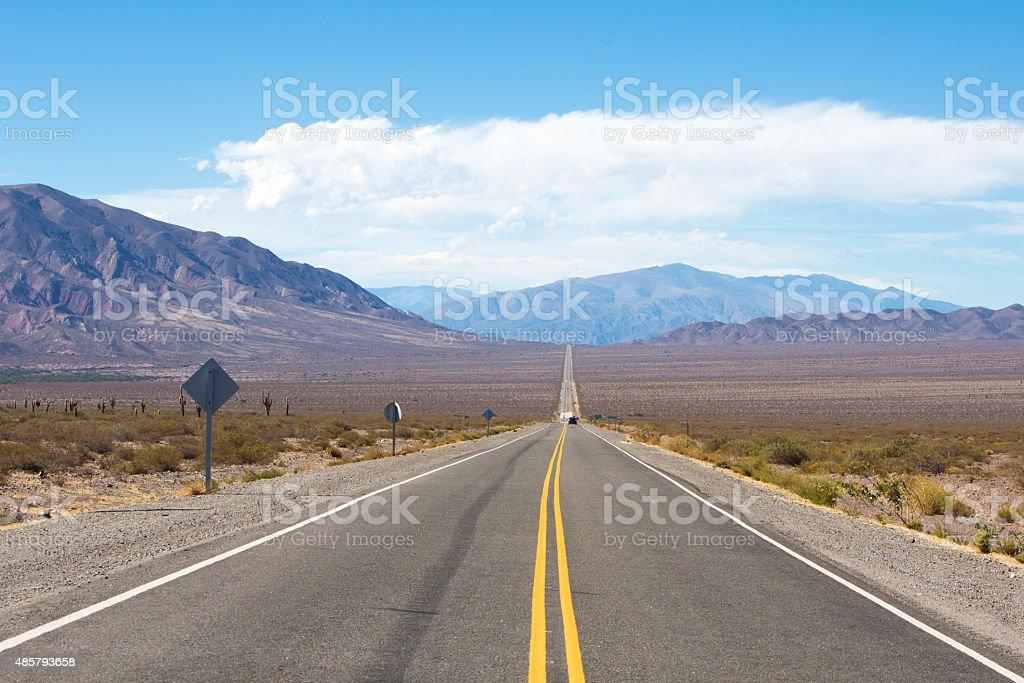 Famous road 'Ruta 40' North Argentina stock photo