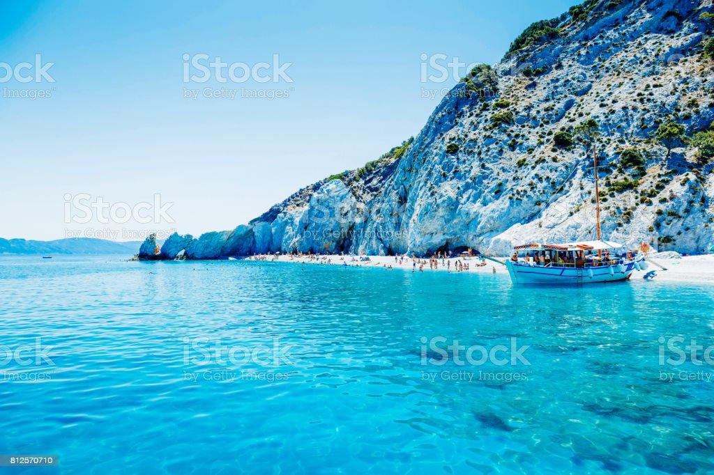 Berühmte Rock am Lalaria Strand, Insel Skiathos, Griechenland – Foto