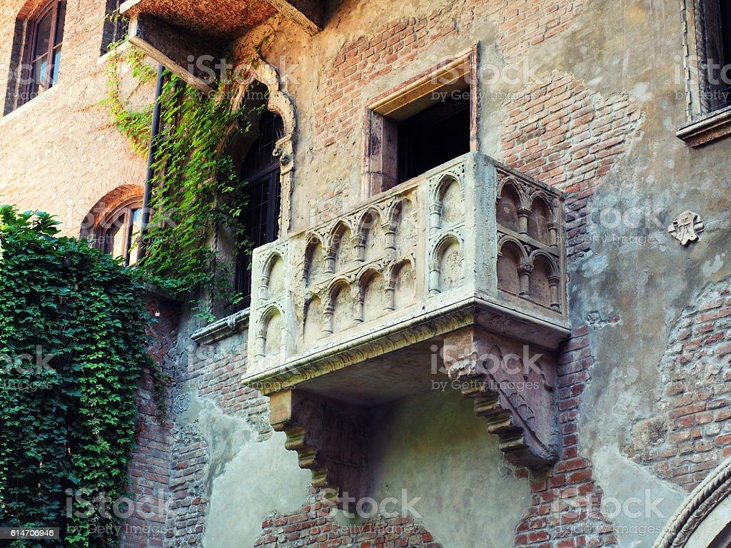 Famous Romeo and Juliet balcony stock photo