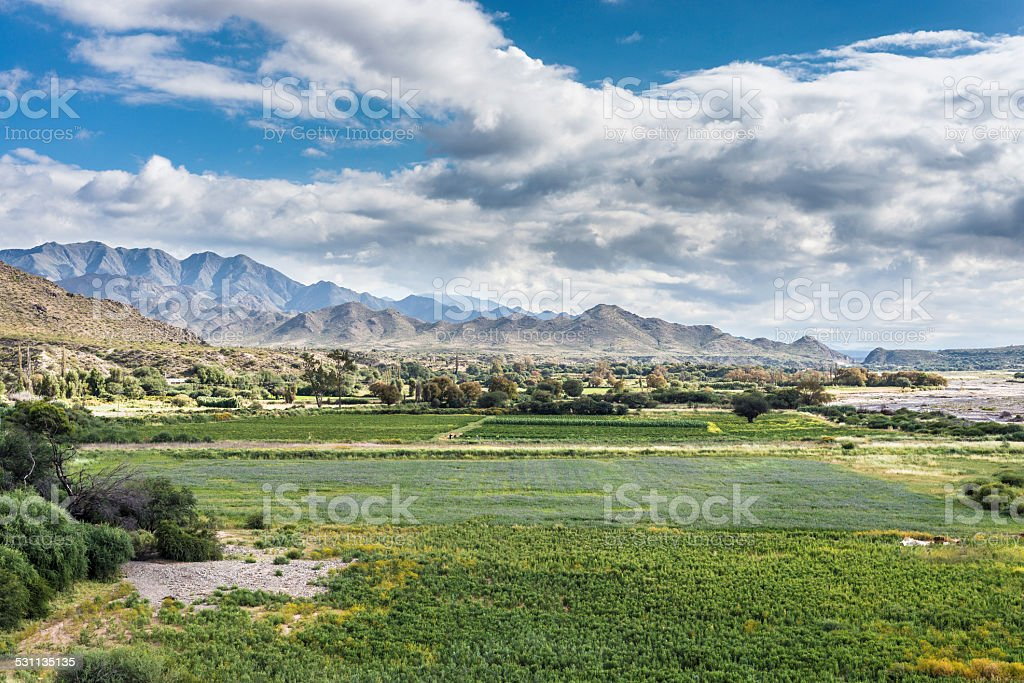 Famous Route 40 in Salta, Argentina. stock photo