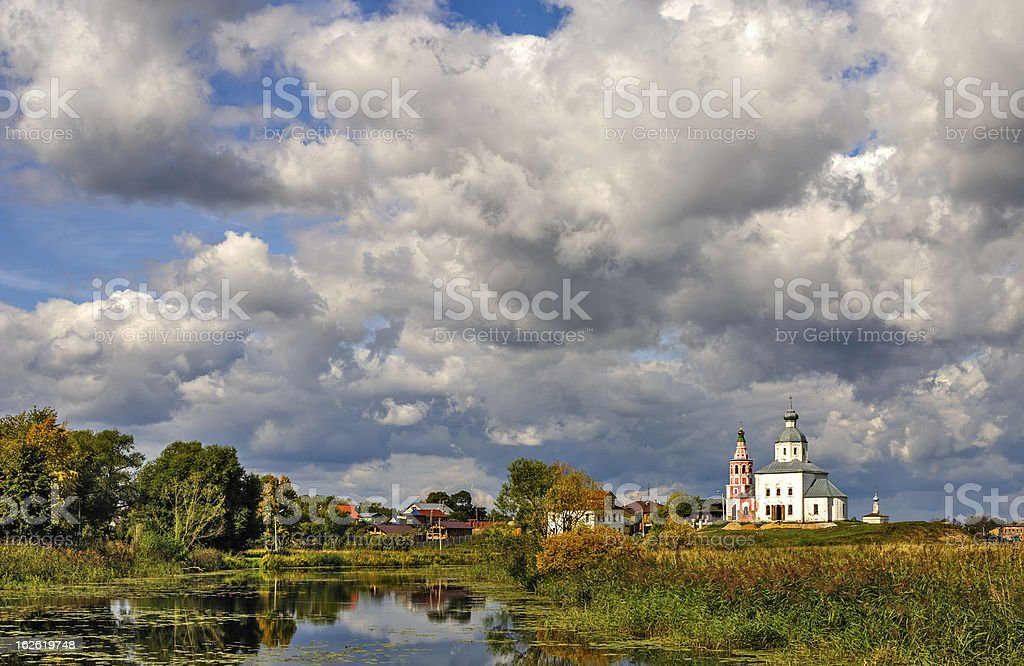 Famous russian town Suzdal stock photo