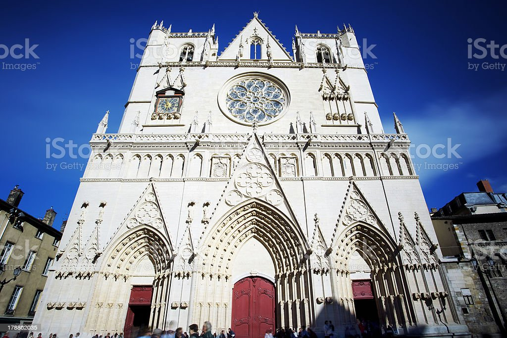 famous Saint Jean cathedral stock photo