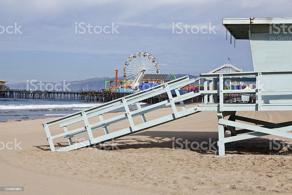 Famous Santa Monica Beach royalty-free stock photo