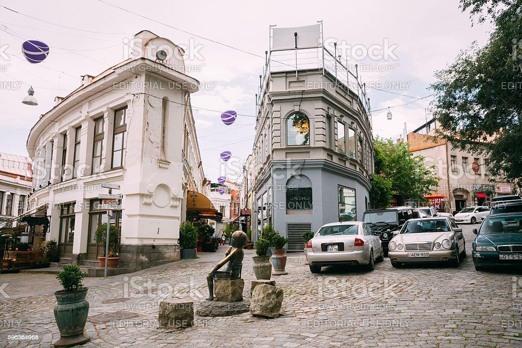 Tbilisi Georgia Police Stock Photos Tbilisi Georgia: Famous Shardeni And Rkinis Rigi Street In Tbilisi Georgia