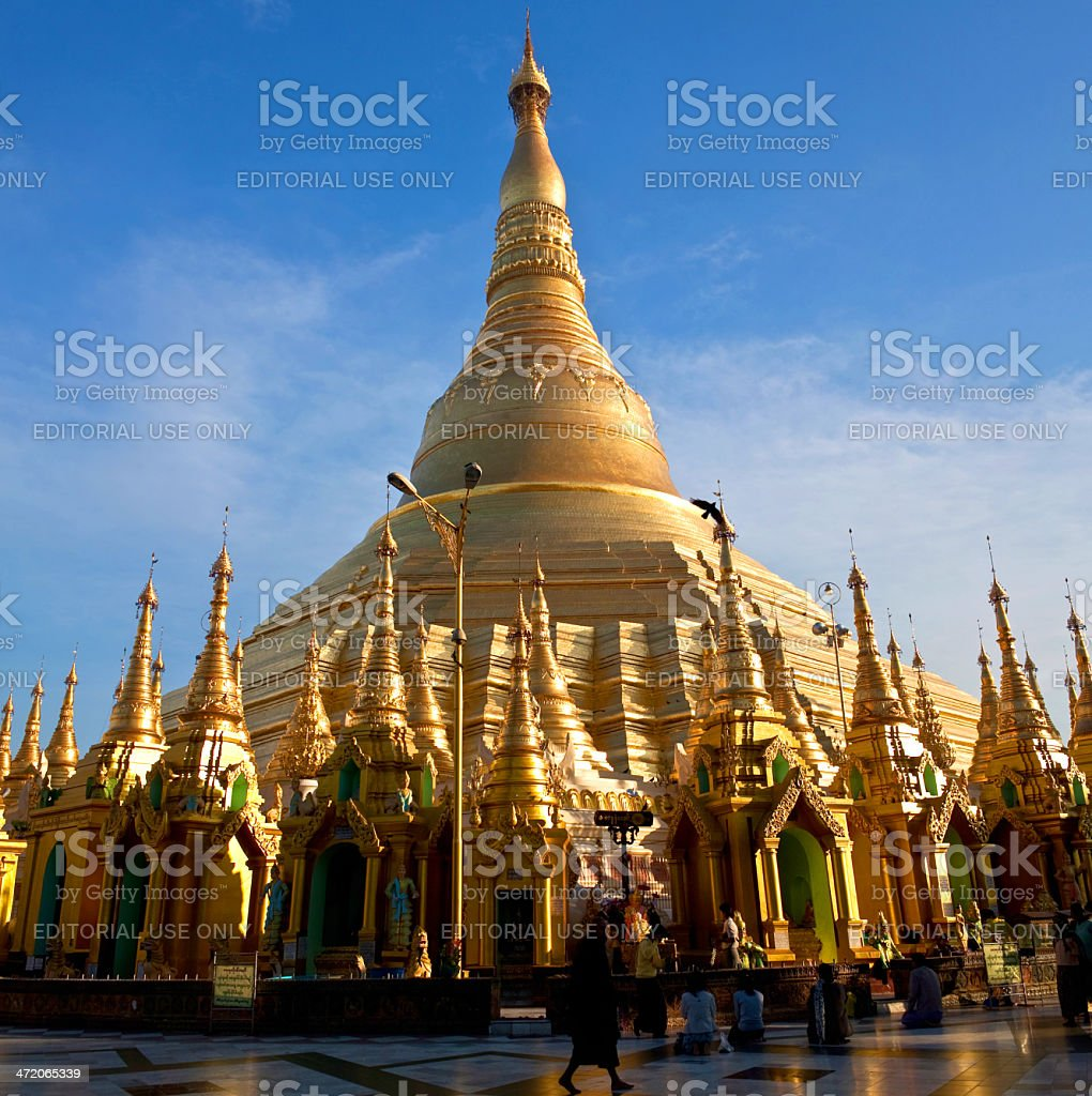 Famous Shwedagon Pagoda in Yangon, Myanmar royalty-free stock photo