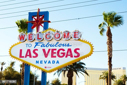1056445350 istock photo Famous Sign Welcome to Fabulous Las Vegas, Nevada 861716080