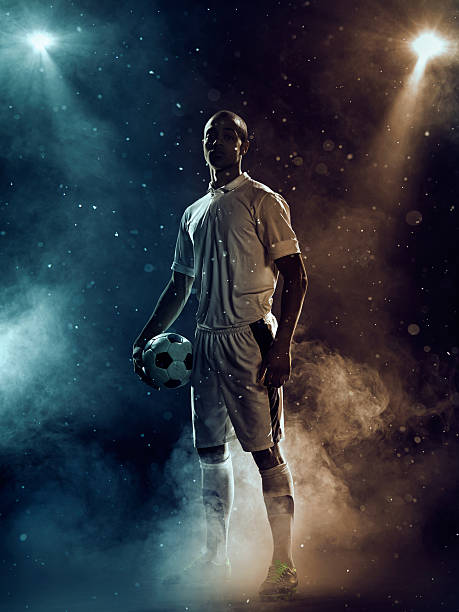 famous soccer player under highlights - soccer player stock photos and pictures