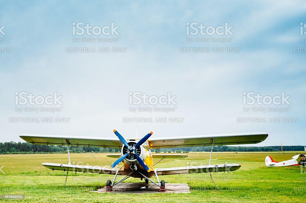 Famous soviet plane paradropper Antonov An-2 Heritage of Flying stock photo