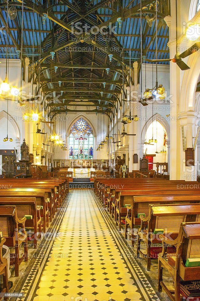 famous St. Johns Cathedral in Hong Kong stock photo