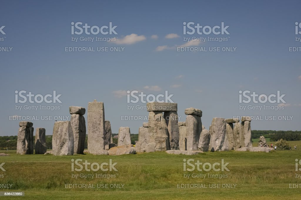 Famous Stonehenge prehistoric complex, England, UK stock photo