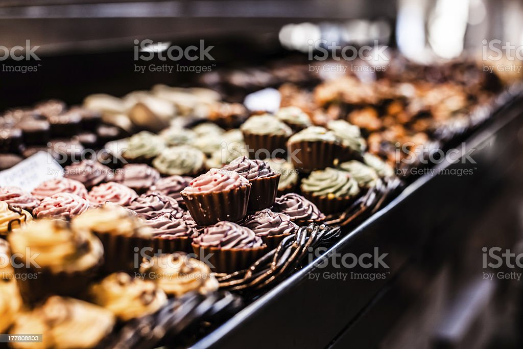 Famous sweet candy market in Barcelona, Spain royalty-free stock photo