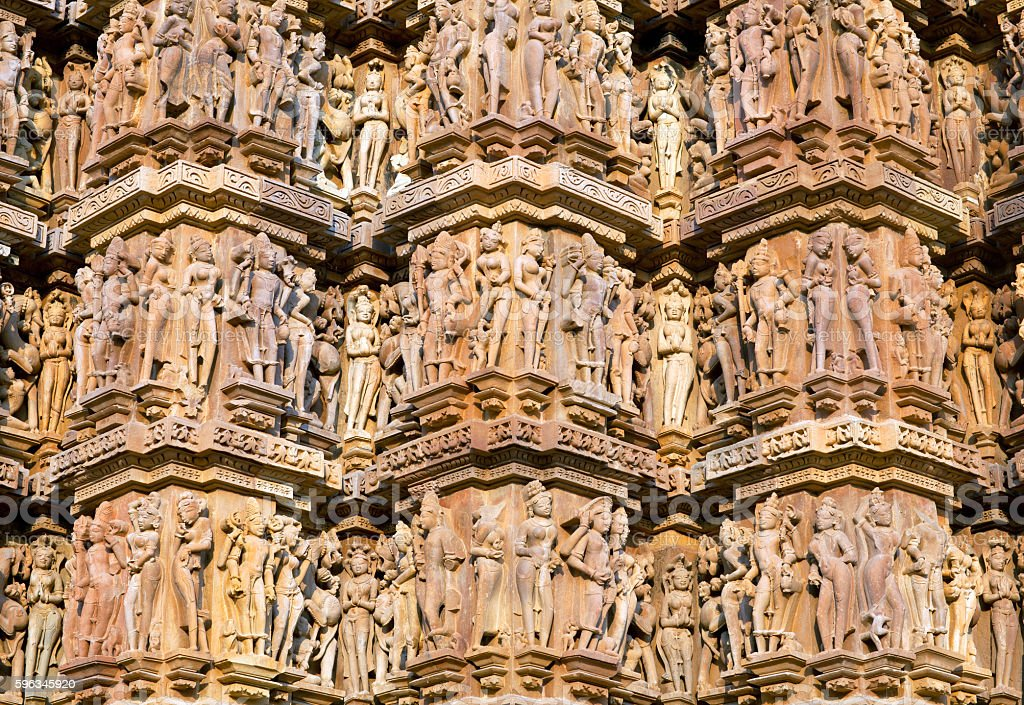 Famous temple in Khajuraho, India royalty-free stock photo