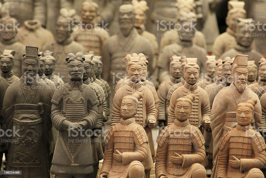 famous terracotta warriors in XiAn, Qin Shi Huang's Tomb, China stock photo