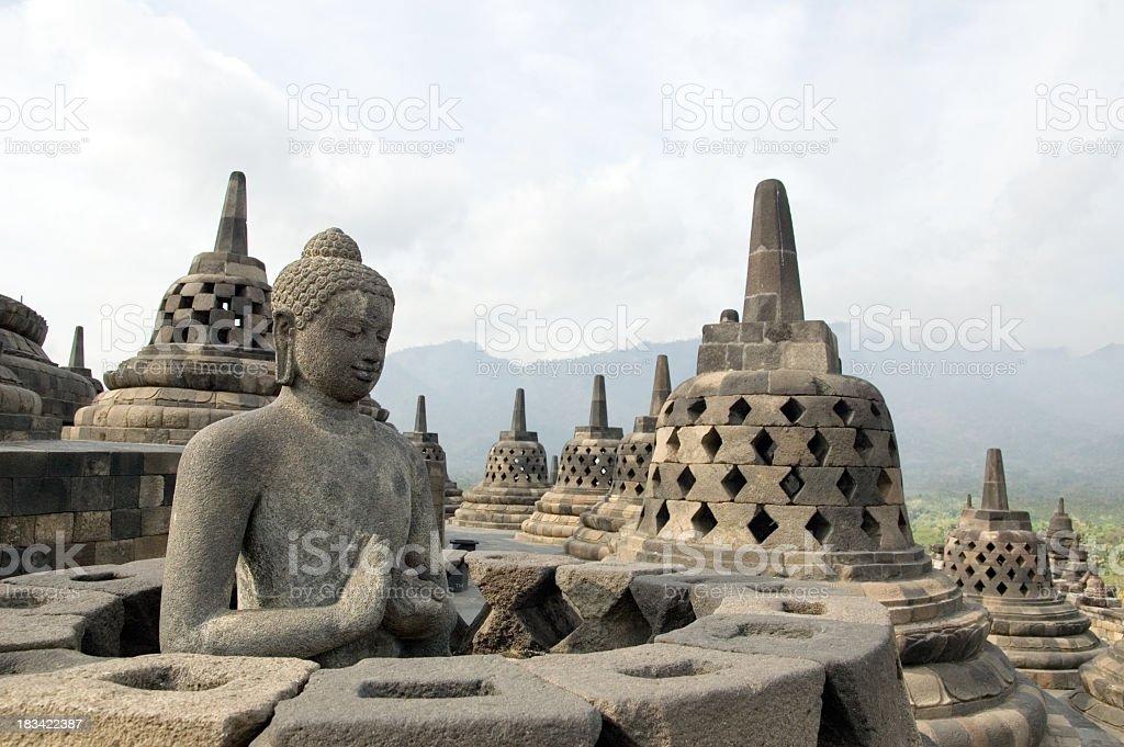 Famous touristic attraction of Borobodur in Java, Indonesia stock photo