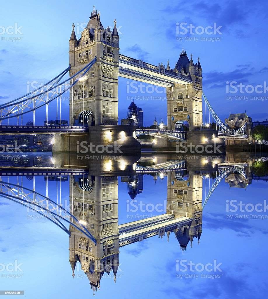 Famous Tower Bridge in  London, England royalty-free stock photo