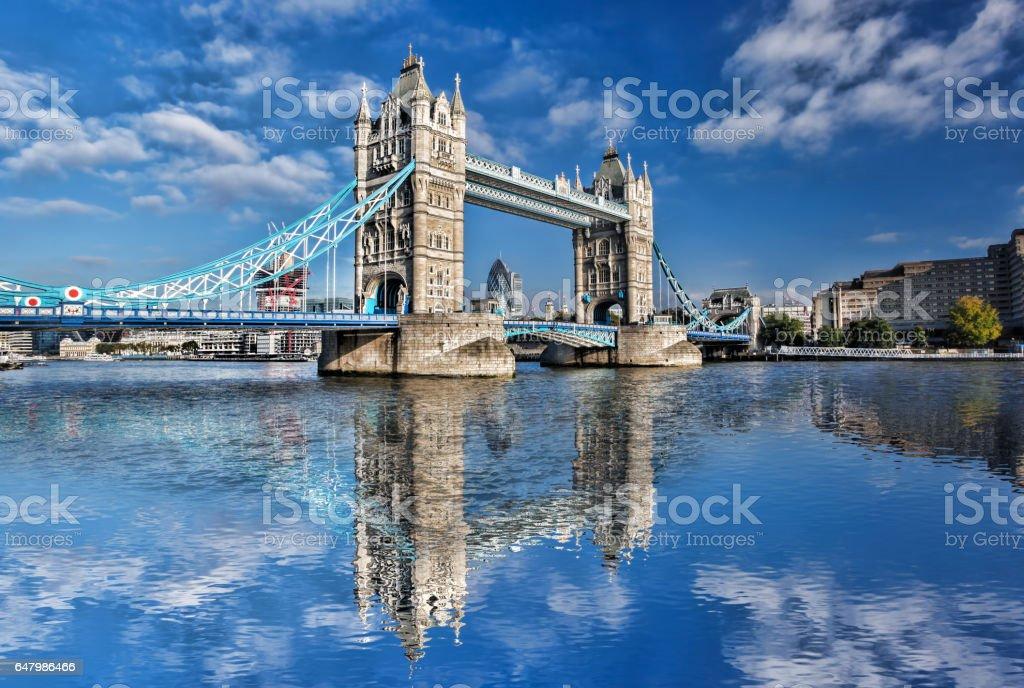 Famous Tower Bridge in London, England, UK stock photo