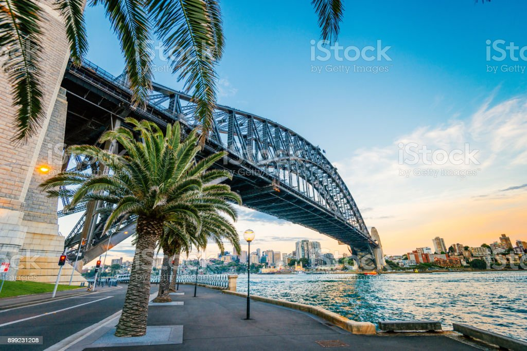 Famous travel destination for many travelers is Sydney, Australia stock photo