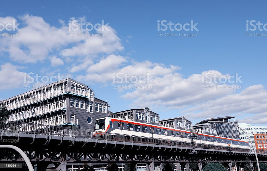 famous U3 subway and office park royalty-free stock photo