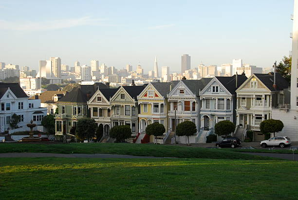 Famous Victorian's of San Francisco stock photo