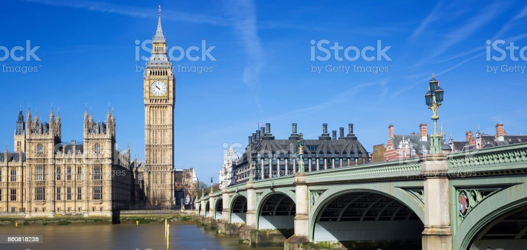 Famous view of Big Ben stock photo