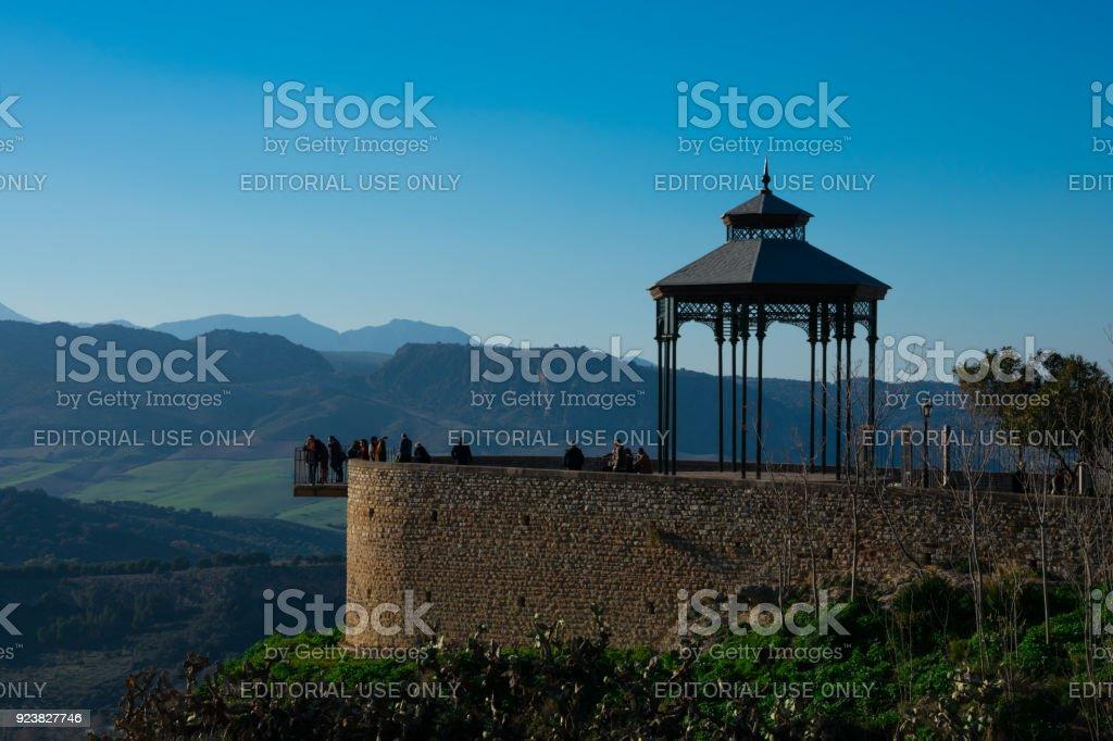 Famous viewpoint in Ronda (Balcon del Conio) stock photo