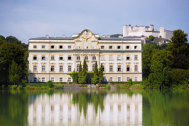 Famous villa from The Sound of Music in Salzburg, Austria stock photo