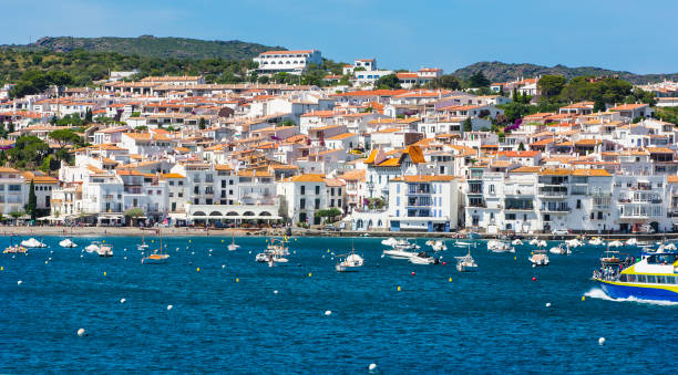 famous village of cadaques in sunny day. costa brava. - somalia stock photos and pictures