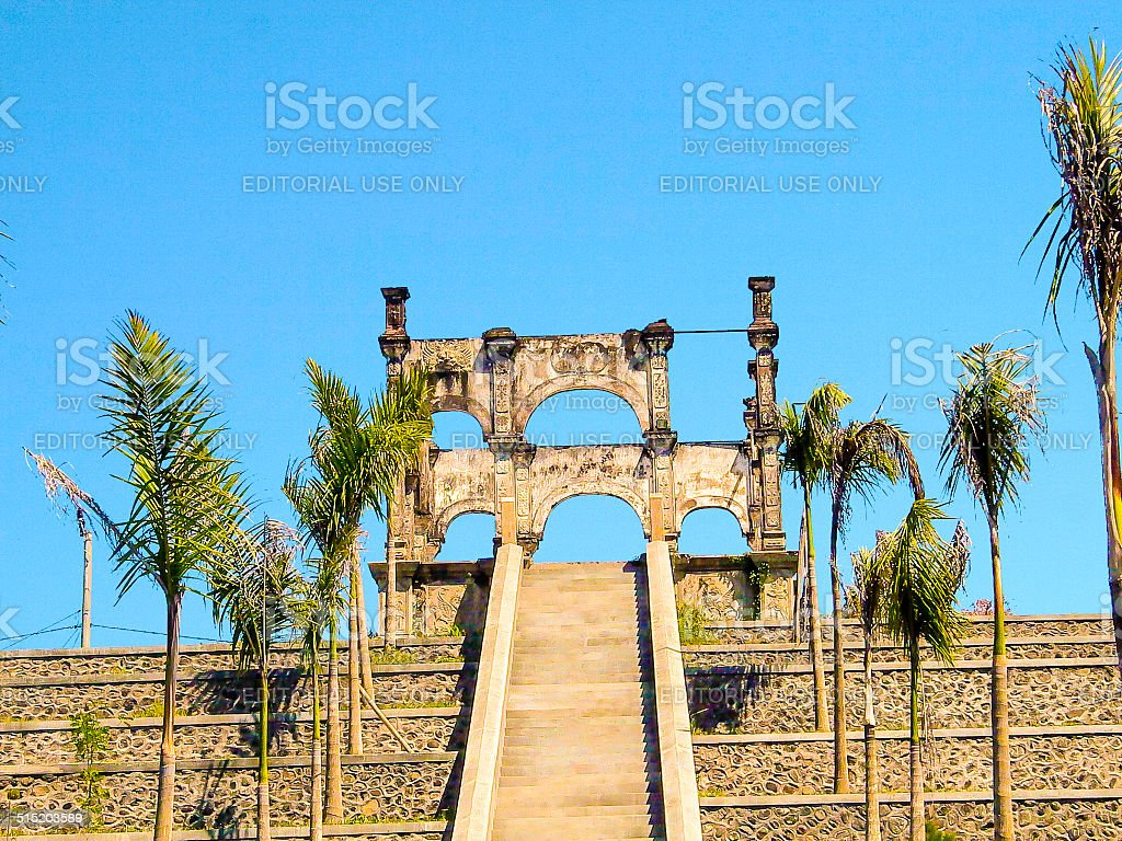 famous water temple of Ujung stock photo
