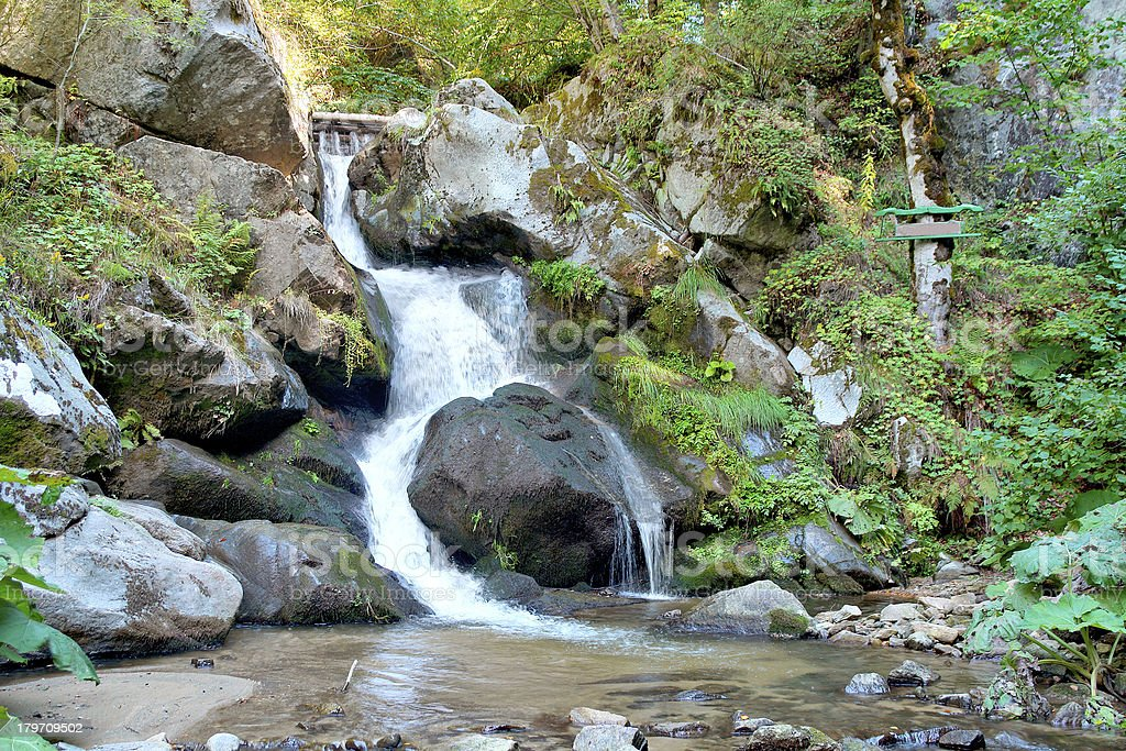 Famous Waterfall in Spring Pehcevo, Macedonia royalty-free stock photo